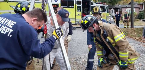 Two Dogs Rescued from Pipe by Wayne Fire Co #5 and Wayne SRT.
