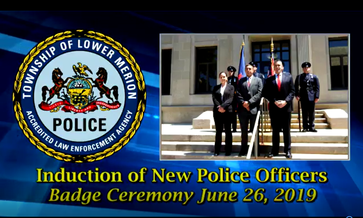 Lower Merion Officials Swear in New Police Officers - TAPinto