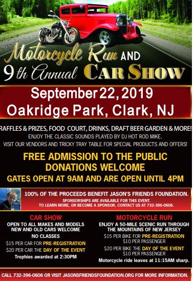 Admission is Free to the 9th Annual Motorcycle Run and Car