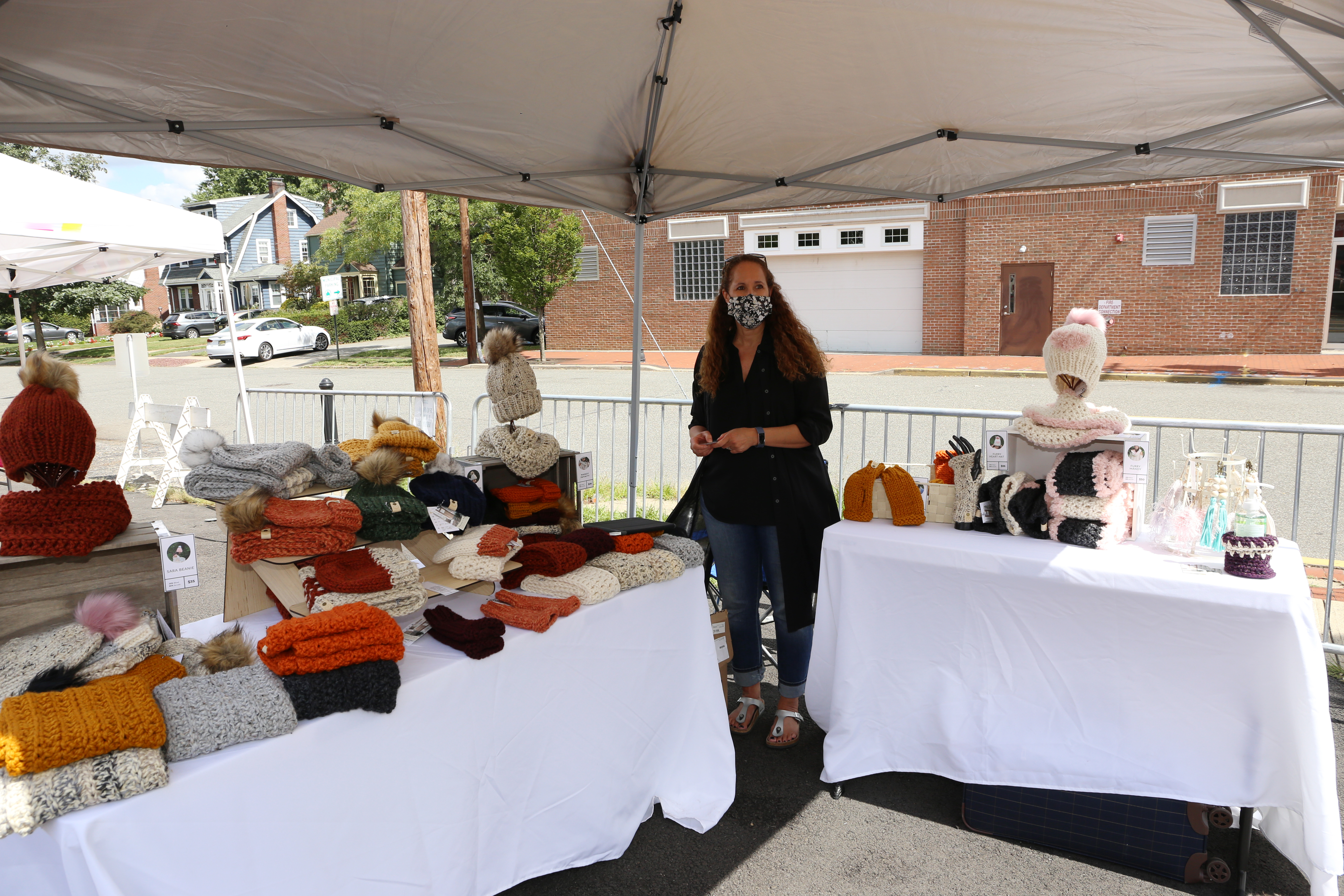 A vendor at the Sept. 12 Springfield Avenue outdoor market. Photo by Carl Patterson