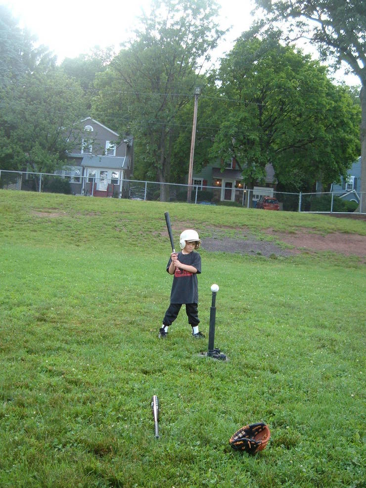 Trying out Tee Ball