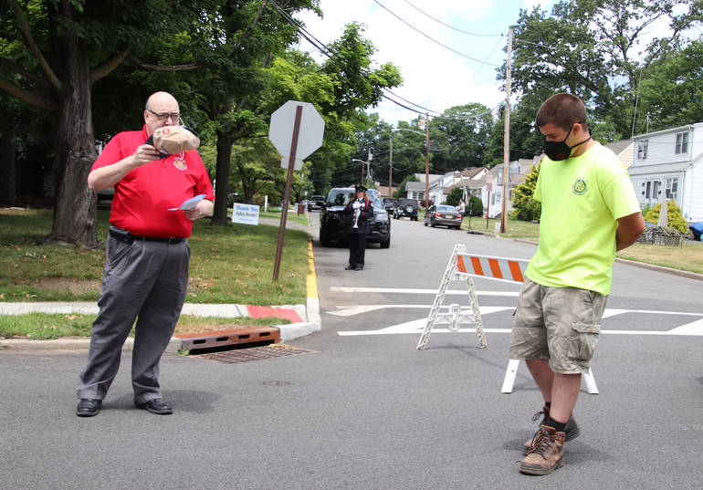 Section of Roosevelt Avenue Dedicated to Memory of Corporal Frank P. Boyd