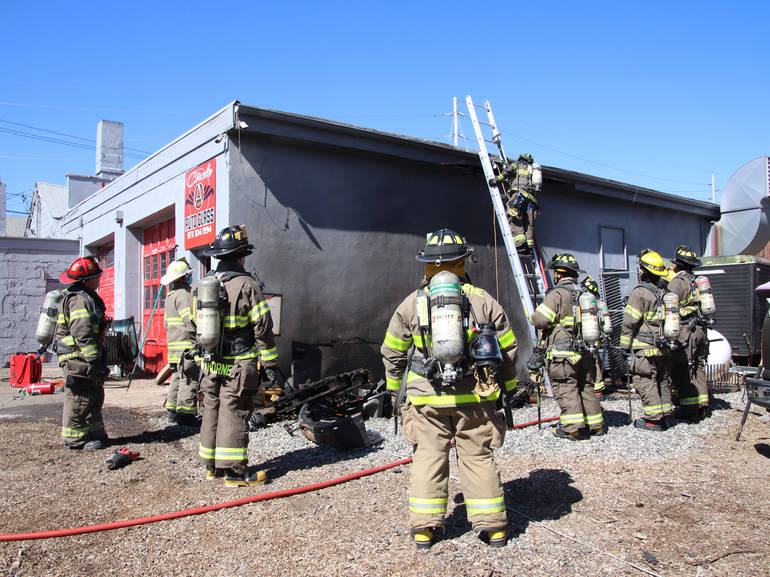 Hawthorne Fire Fighters Subdue Auto Glass Shop Blaze
