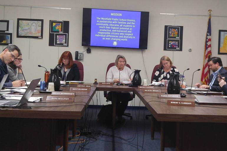 Westfield Board of Education Meeting TAPinto Photo