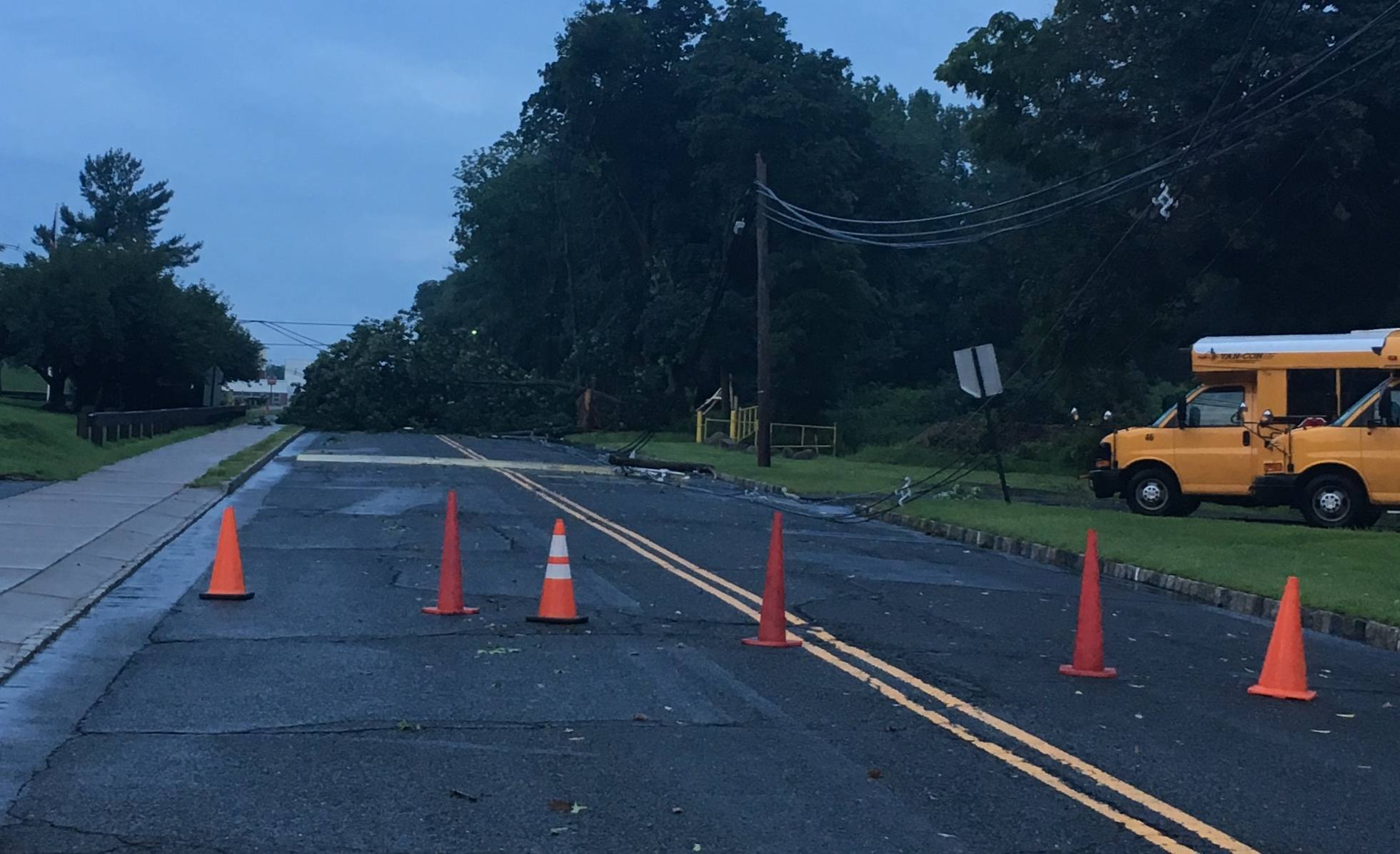Downed Tree Knocks Out Power to Watchung Hills and Much of Warren, Cancels Football Practice