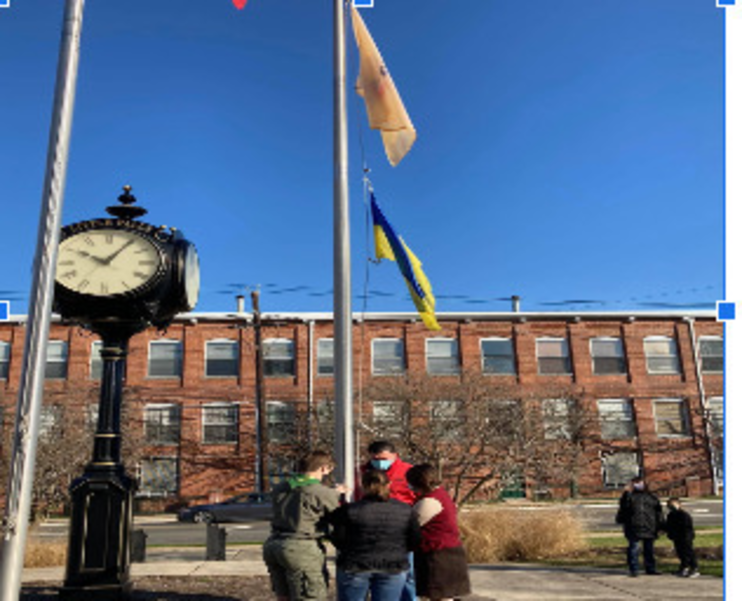 Flag Raised in Little Falls in Remembrance of the Holodomor