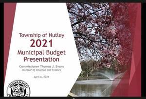 Nutley 2021 Municipal Budget, Nutley NJ, TAPinto Nutley, 07110