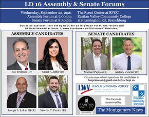 Legislative District 16 Candidates Forums to be Held