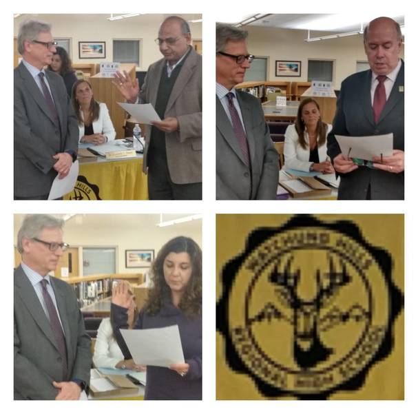 Watchung Hills Board of Education Swears in New Members,  Names new President and Vice President, Recognizes Fahey 0BE081CE-AE09-4CC8-9672-AAD5E1227CFA.jpeg