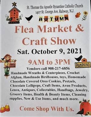 Flea Market Today at St. Thomas the Apostle in Rahway