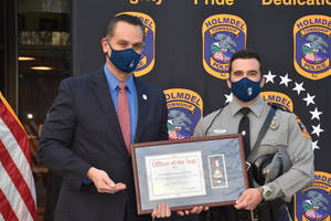Holmdel Township Police Department recognized Patrolman James Herlihy as Officer of the Year
