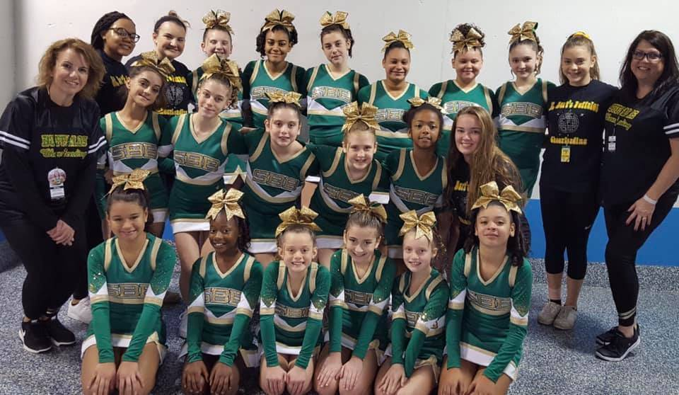 12U Cheerleaders at the Big East Regional Championships.jpg