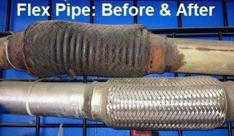 Before & After Flex Pipe at Maplewood Meineke