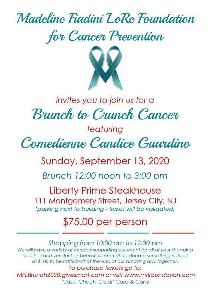 Annual Brunch to Crunch Cancer---  POSTPONED TO Sunday, Sept. 13,2020