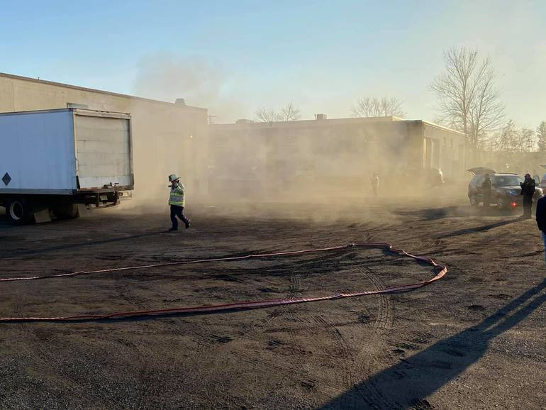 Fairfield Fire Department Puts Out Blaze at Printing Warehouse