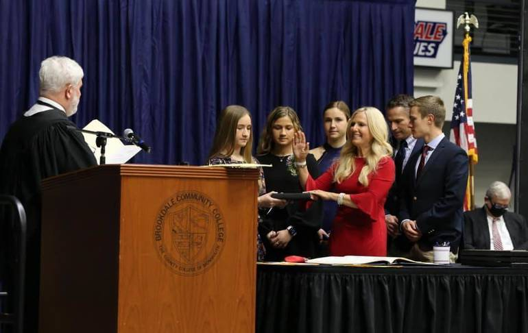 Christine Giordano Hanlon Sworn In To  Second Term as Monmouth County Clerk