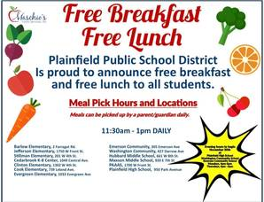 Weekday Food Distribution to Resume at Plainfield Public Schools