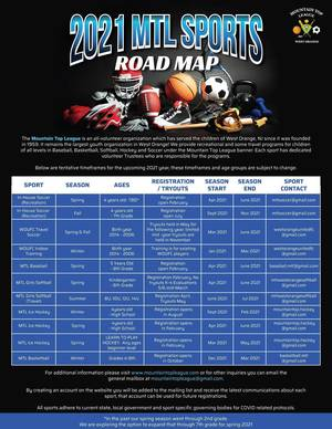 Mountain Top League in West Orange Releases 2021 Roadmap for Sports