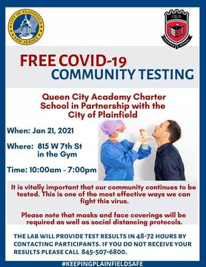 Friday: Plainfield COVID-19 Update and Testing Opportunities