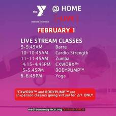 Madison Area YMCA Fitness Classes are Virtual For Monday, Feb. 1