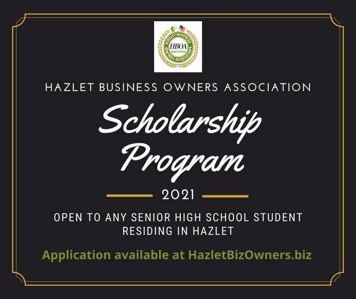 Hazlet Business Owners Association Hosts Annual Scholarship Program for High School Seniors Living in Town.