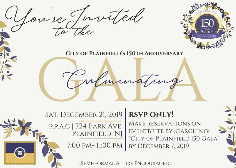 150th Culminating Gala Invite