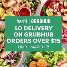 Order From Freshii Morris Plains and Get a Great Offer from GrubHub