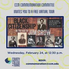 "Free Virtual Tour of NY HIstory Exhibit ""Black Citizenship in the Age of Jim Crow"""