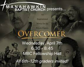 Manahawkin Baptist Church Offering Free Movie Night for 6 to 12th Graders on Wednesday