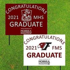 Morris Educational Foundation Gifts Senior Signs to all 2021 Graduating Seniors from Morristown High School and Frelinghuysen Middle School