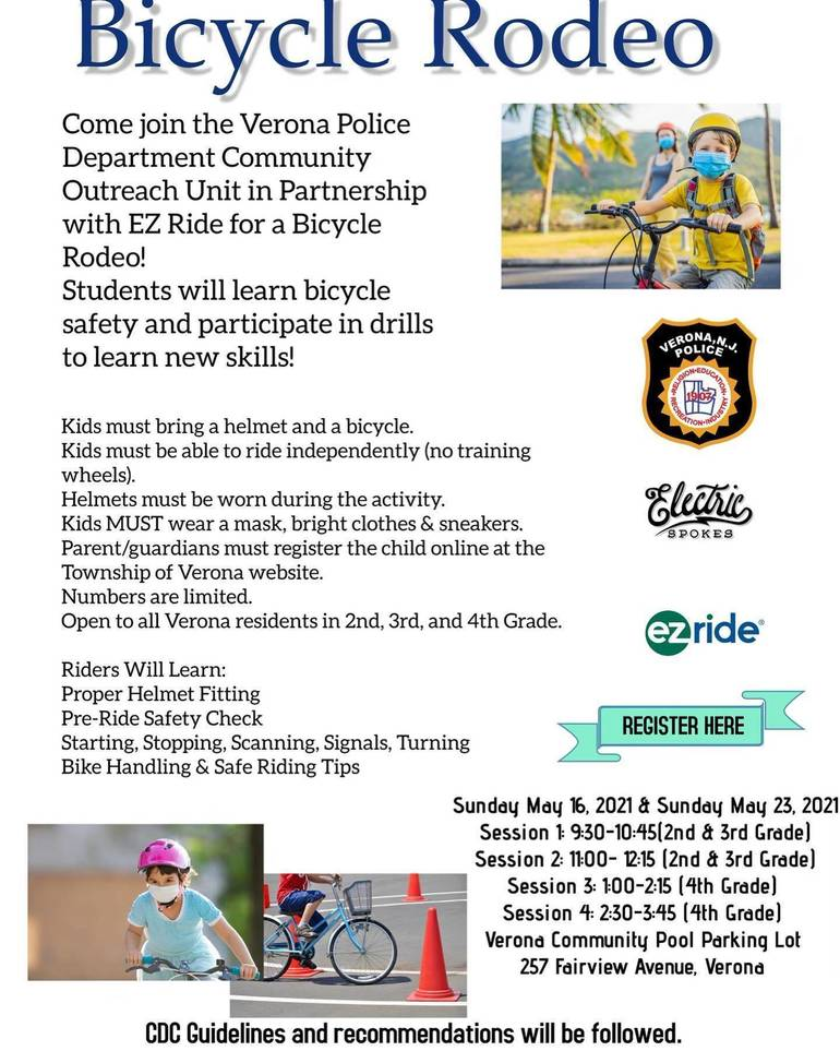 Registration for Verona Bicycle Rodeo Opens May 5