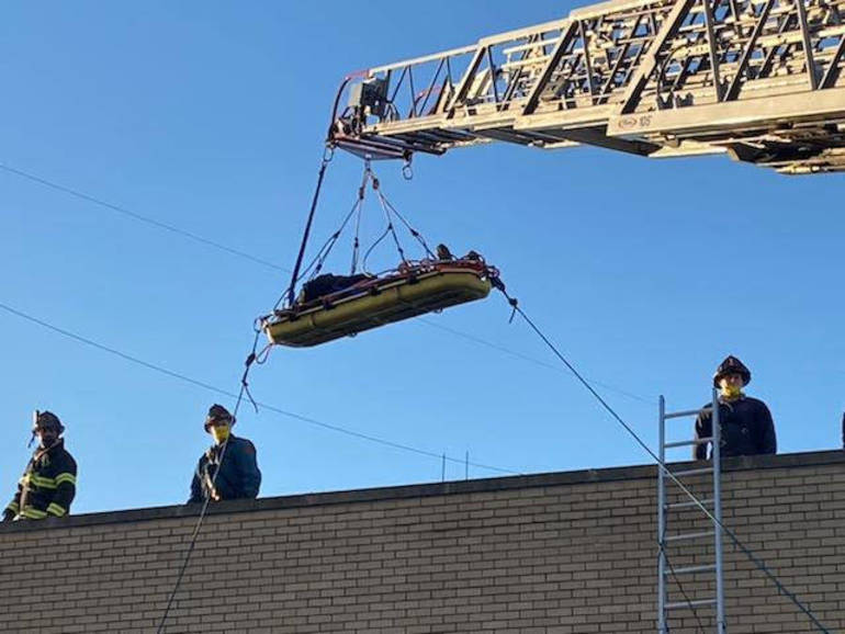 Hackensack Fire Department Rescues Construction Worker Who Fell from Rooftop