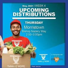 Table of Hope's Free Food Distribution is May 27 in Morristown