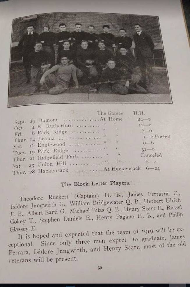 1918 Yearbook Football Photo and Results.JPG