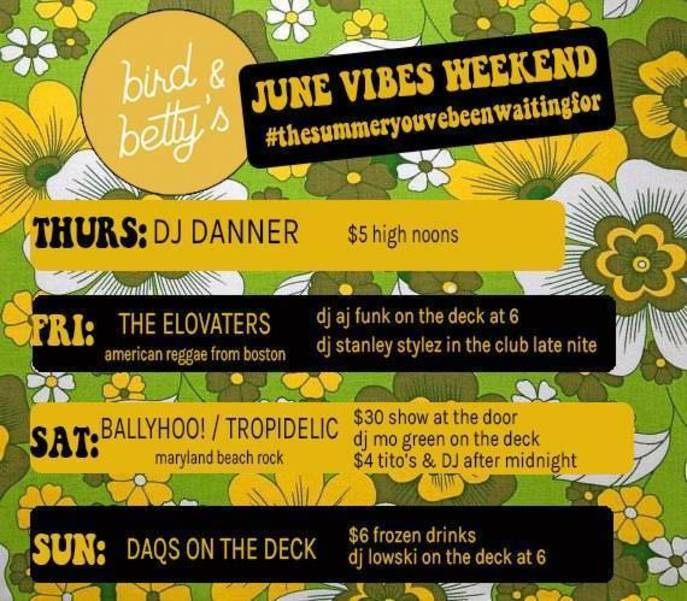 This Weekend's Entertainment Lineup at the OC and Bird and Betty's