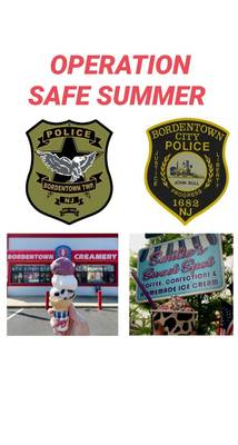 """Township, City Police Issuing """"Tickets"""" for Free Ice Cream to Promote Bike Safety"""
