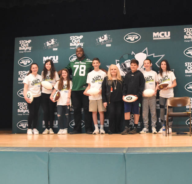NY Jets STOMP Out Bullying Lazar Montville