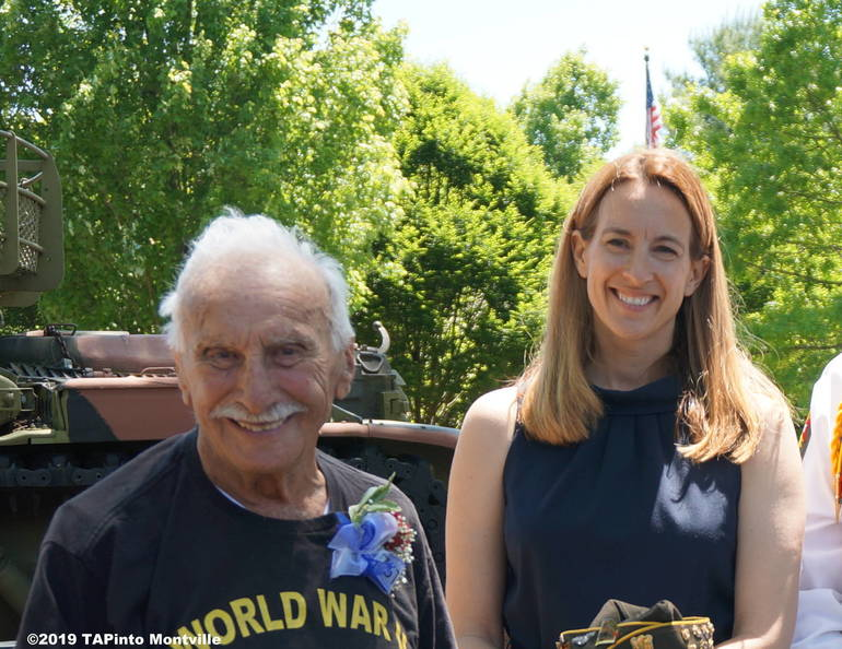 1a Herbert Terner with Rep. Mikie Sherrill ©2019 TAPinto Montville.JPG