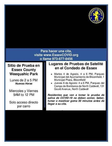 Top story cfa11ddcc88c0b070637 1 dual testing site flier   july 30 spanish