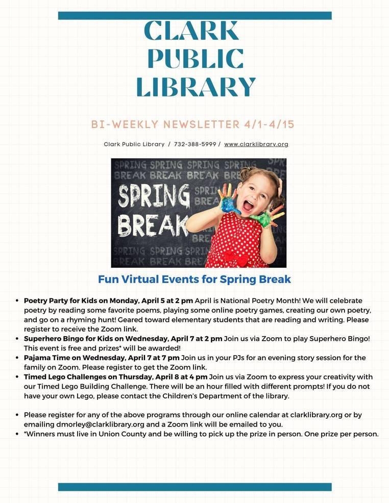 Spring Break at The Clark Public Library