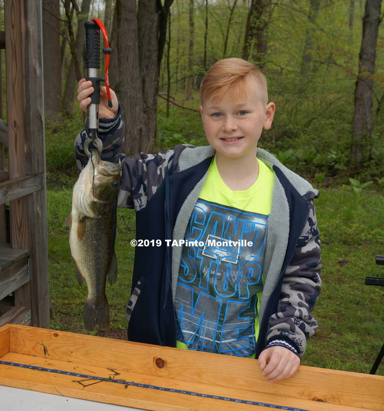 1 Nick Brynczka with his 16 1 2-inch largemouth bass ©2019 TAPinto Montville.JPG