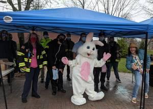 Easter Bunny Visits Montville Despite Pandemic
