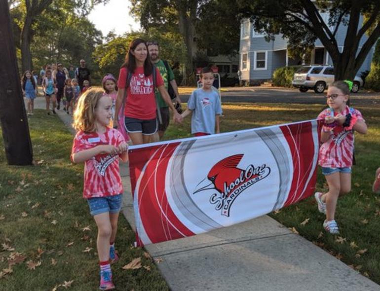 Scotch Plains-Fanwood celebrates International Walk to School Day.