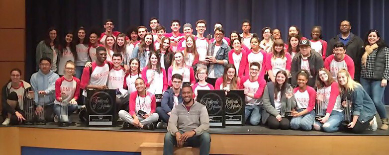 Scotch Plains-Fanwood HS seniors with award from the 2019 Festival of Music in Boston