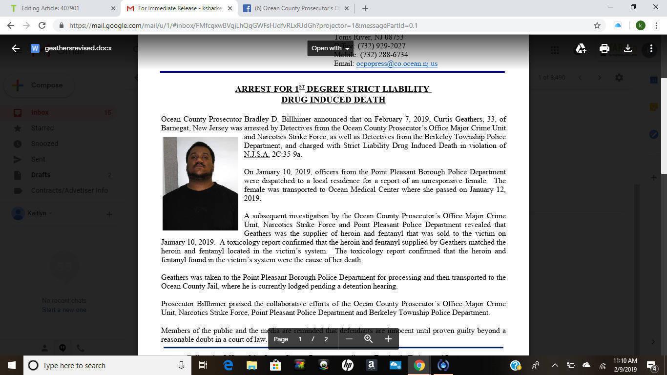 Drug Induced Death Arrest