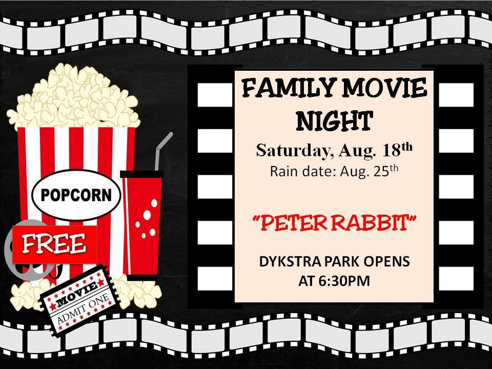 Sparta Outdoor Movie Night Postponed
