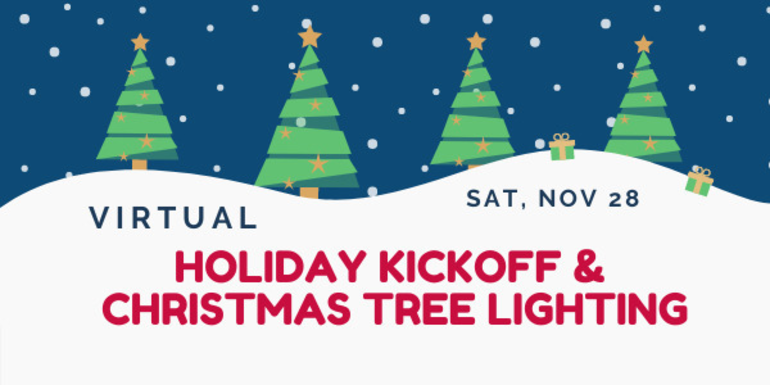Virtual Holiday Kickoff and Christmas Tree Lighting in Basking Ridge on November 28th!