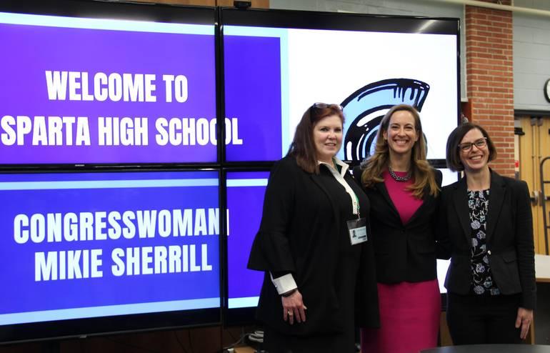 Mikie Sherrill Visits SHS