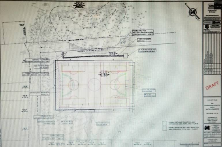 West Caldwell Council Receives Plans for Harrison School Field Project