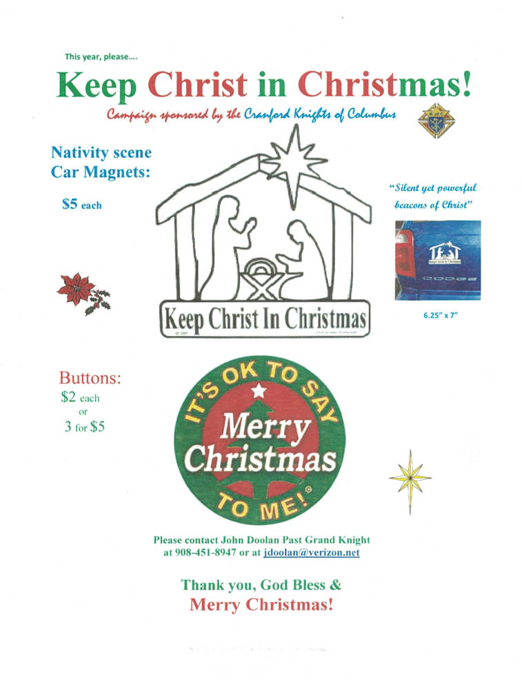 2019 K of C Keep Christ in Christmas; It's OK to Say Merry Christmas to Me Button Flyer.jpg